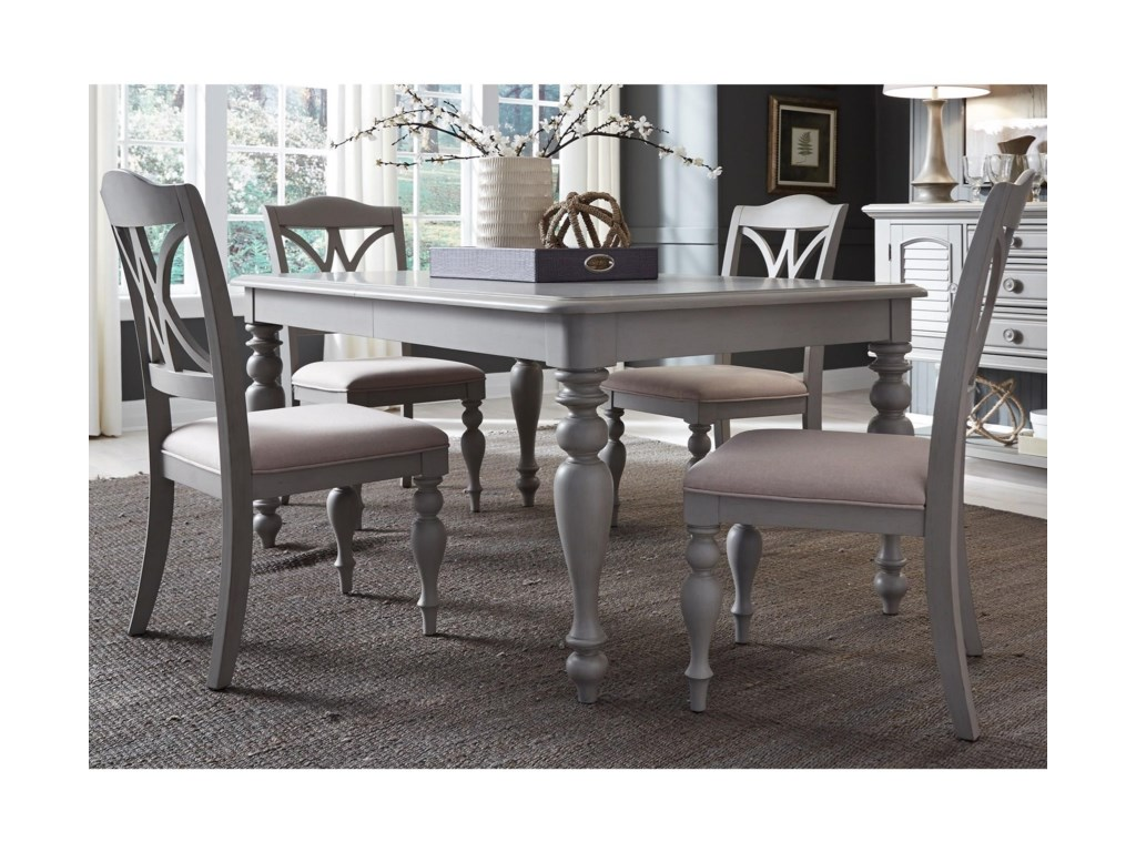 Liberty Furniture Summer House Dining5 Piece Rectangular Table Set