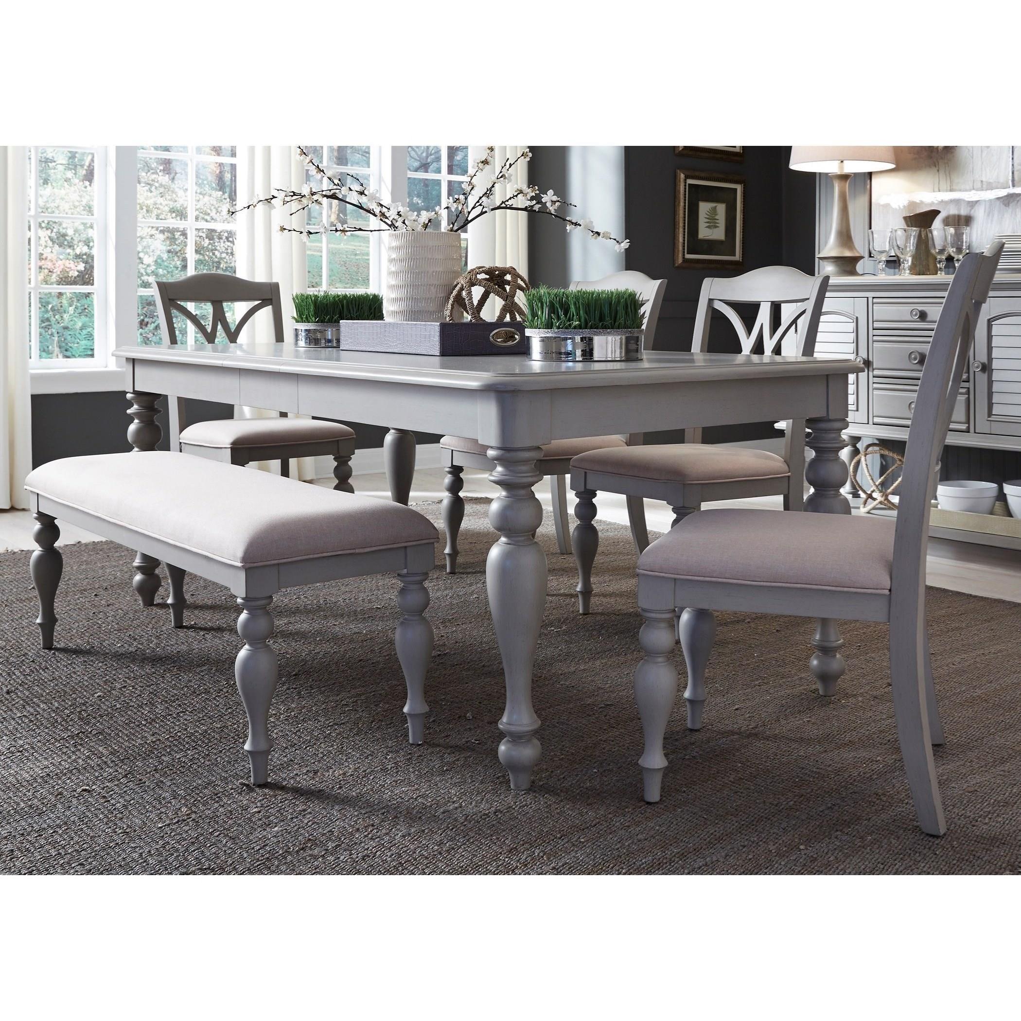 Liberty Furniture Summer House Dining6 Piece Rectangular Table Set