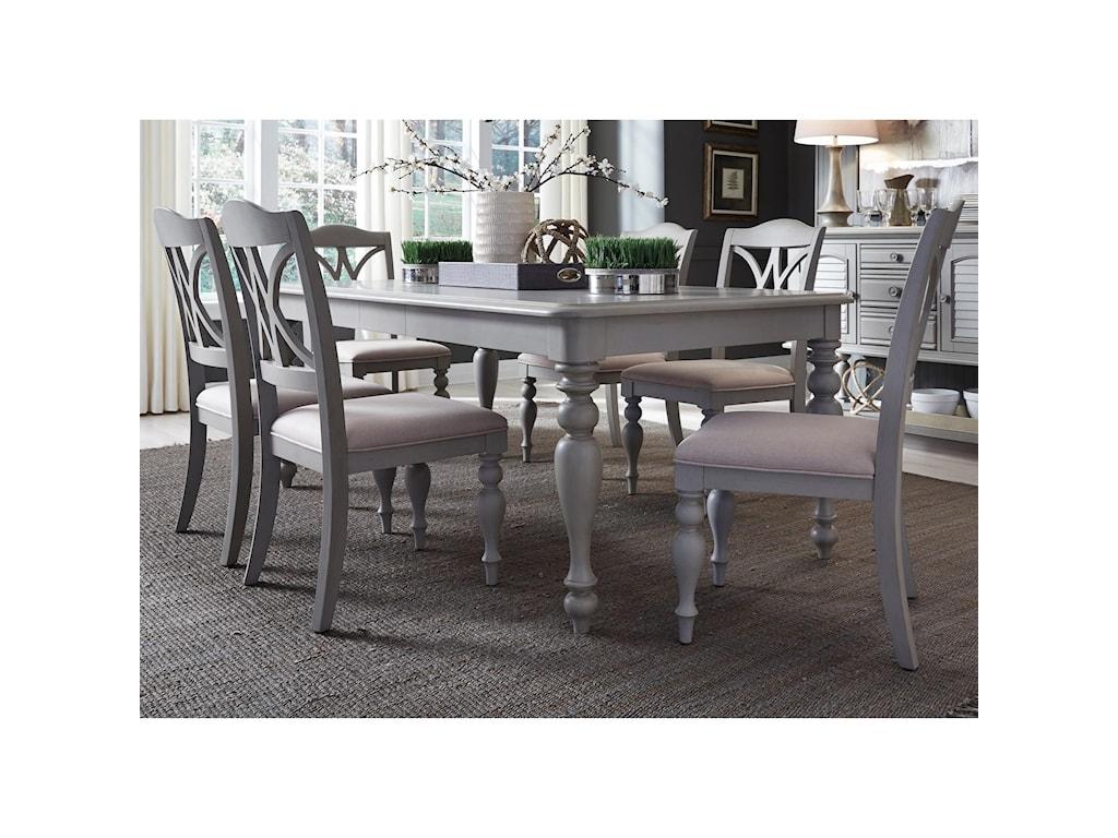 Liberty Furniture Summer House Dining7 Piece Rectangular Table Set