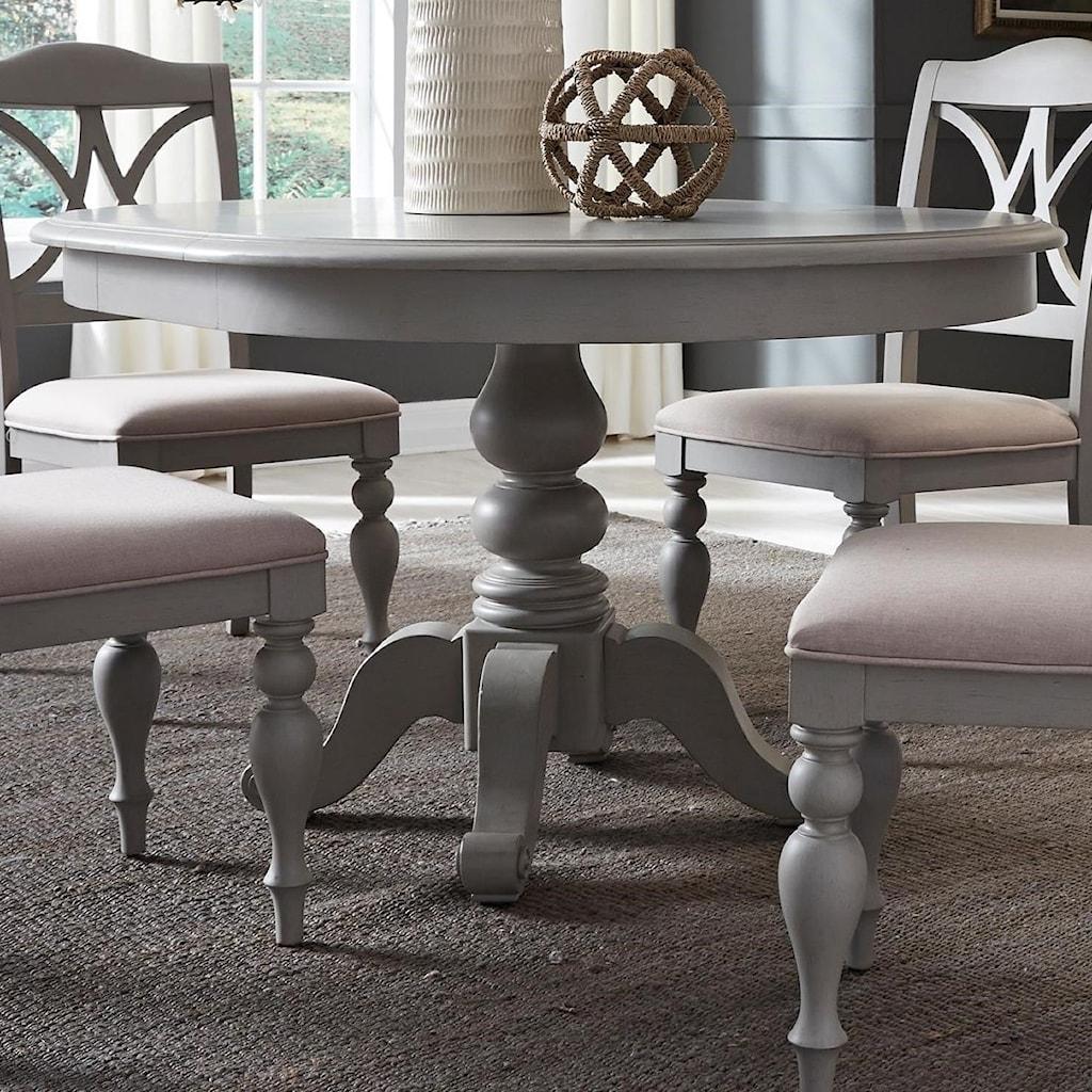 Liberty furniture summer house dininground pedestal table