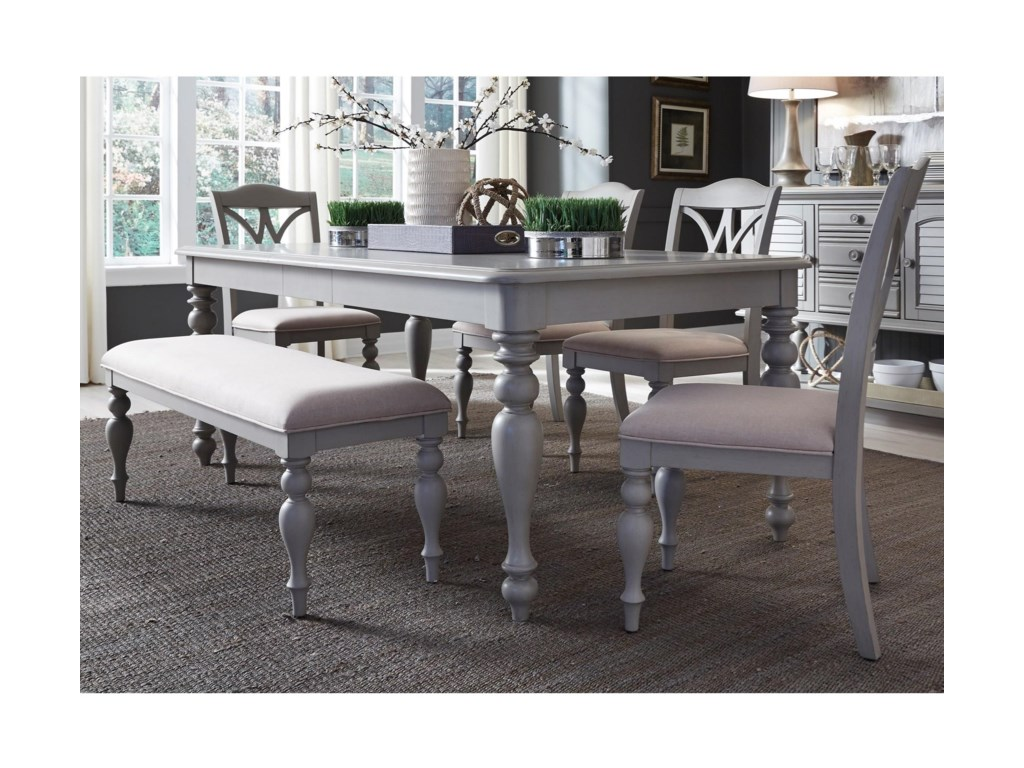 Liberty Furniture Summer House DiningRectangular Leg Table