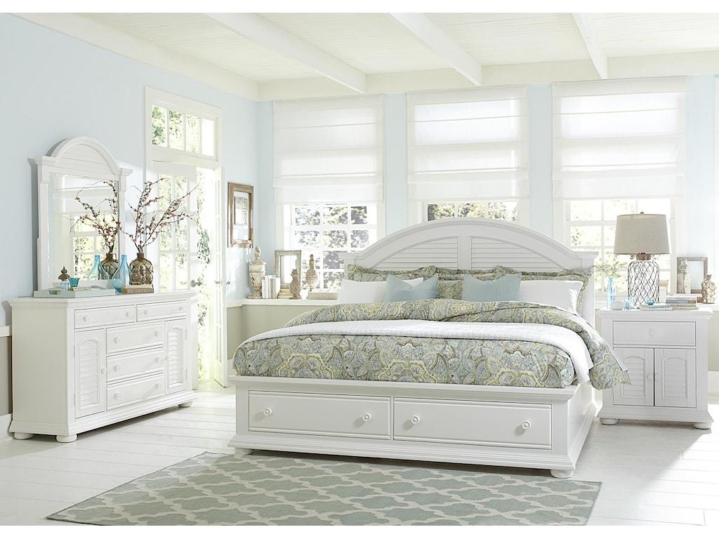 Liberty Furniture Summer HouseKing Storage Bed