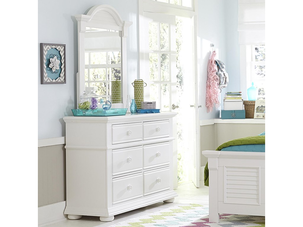 Liberty Furniture Summer HouseMedia Chest and Small Mirror