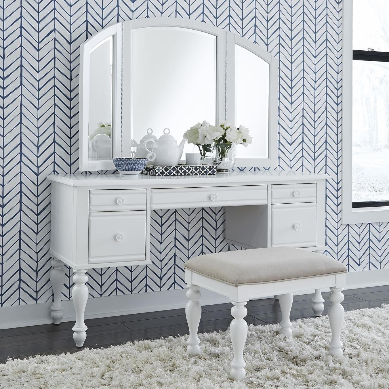 Liberty Furniture Summer House3 Piece Vanity Set ...