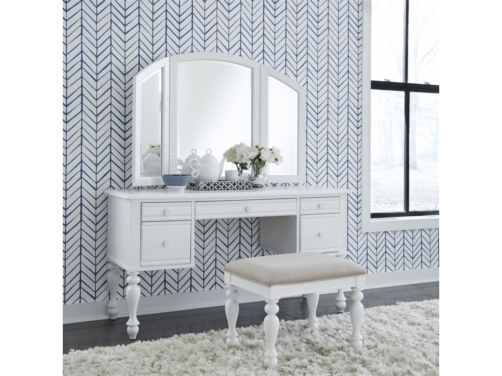 Liberty Furniture Summer HouseVanity and Mirror Set