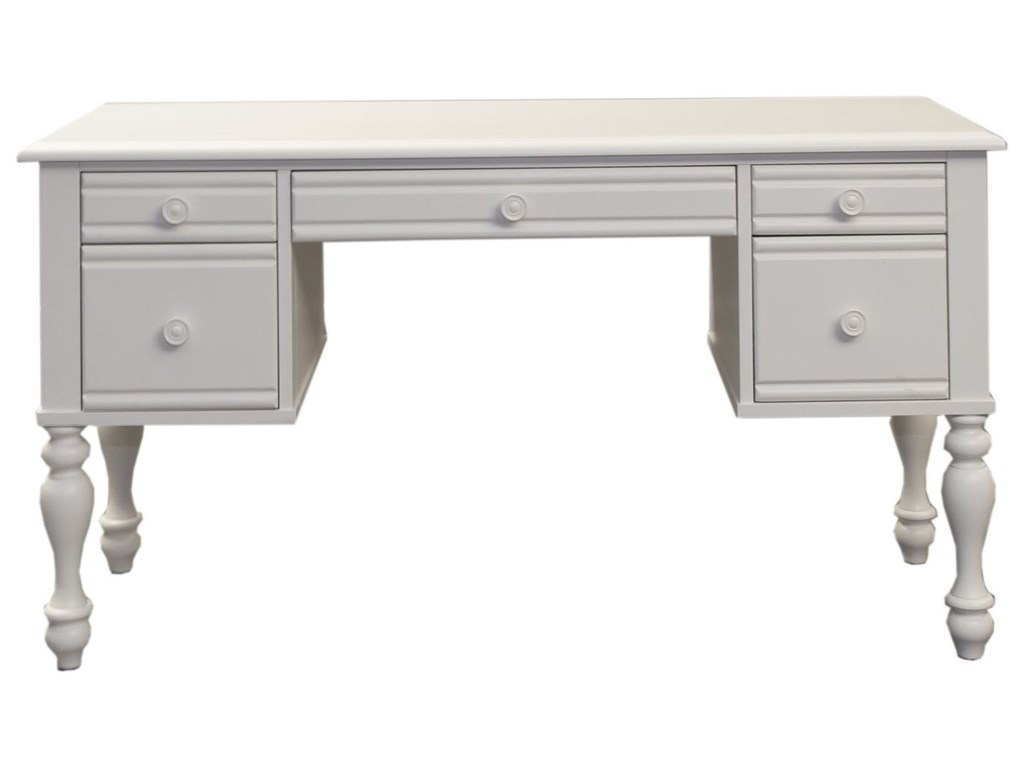 Liberty Furniture Summer House Cottage Style Vanity Desk With Turned Legs Royal Furniture Vanities Vanity Sets