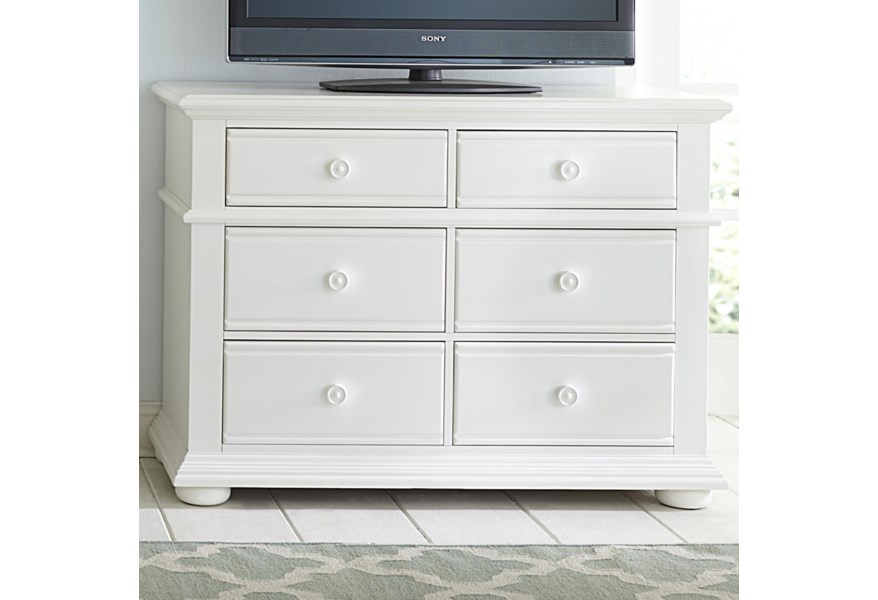 Liberty Furniture Summer House 607 Br45 Cottage Media Chest With 6