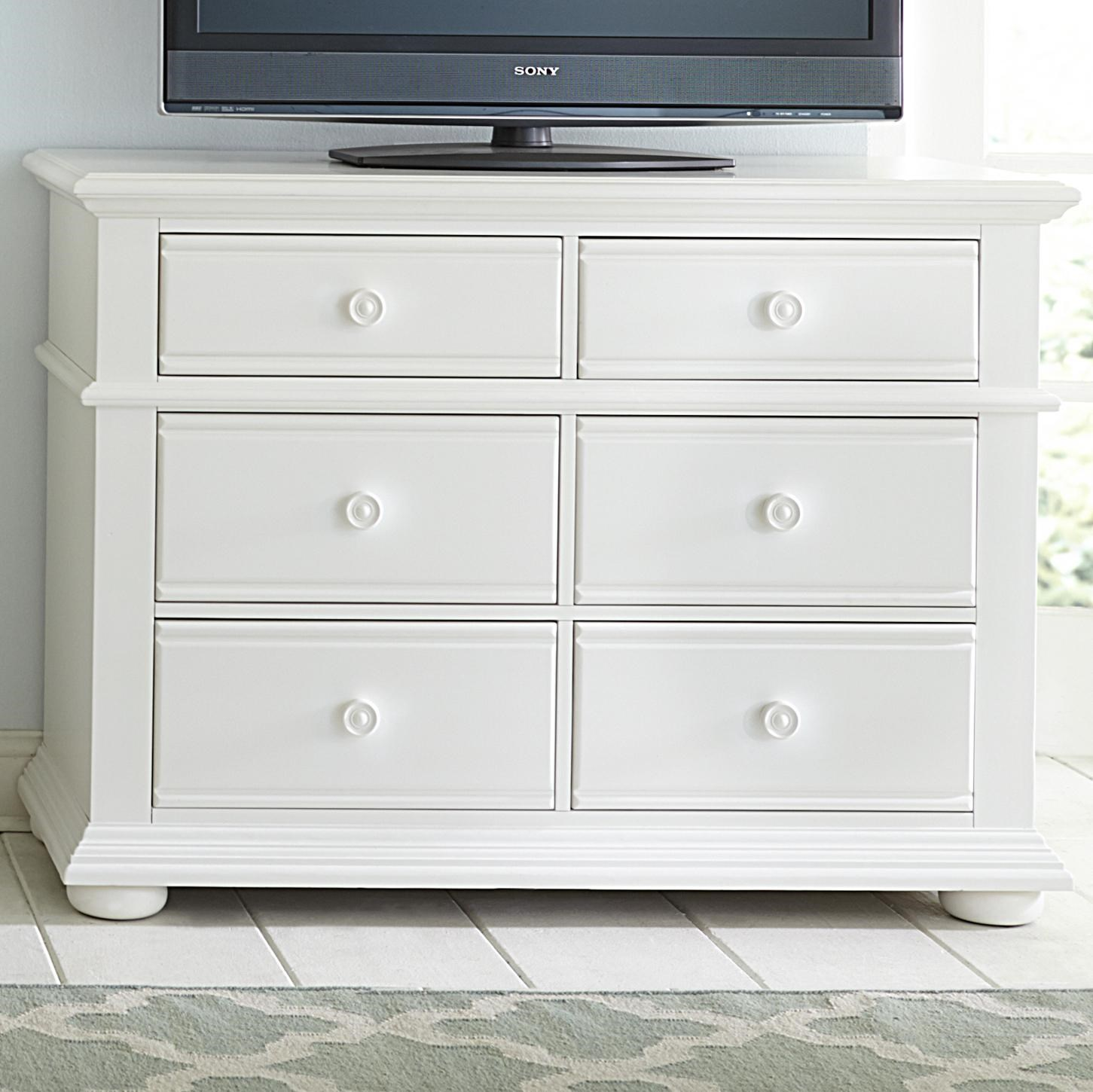 Liberty Furniture Summer House Cottage Media Chest With 6 Drawers