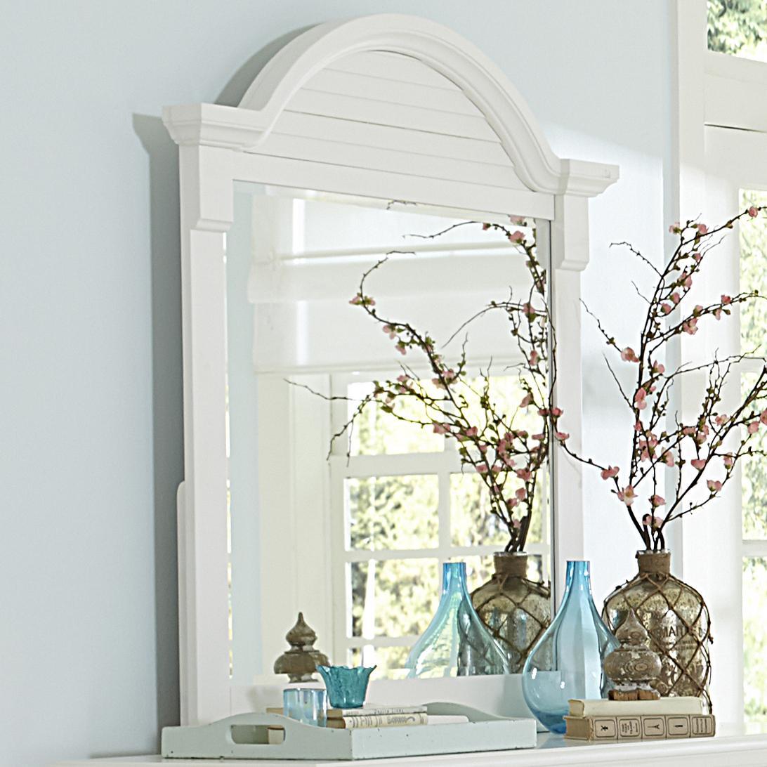 Arched Crown Moulding Dresser Mirror