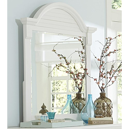 Liberty Furniture Summer House Arched Crown Moulding Dresser Mirror