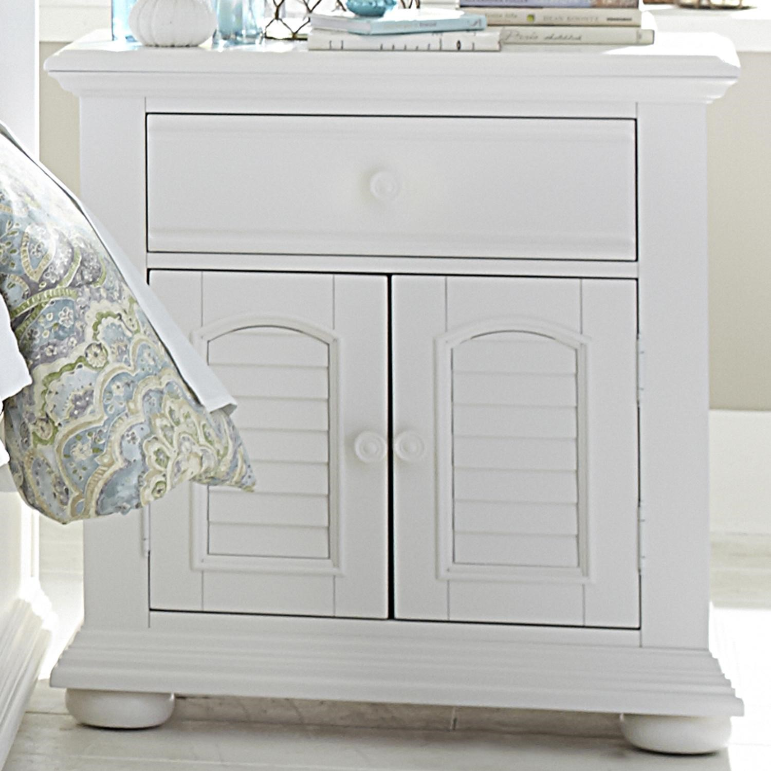 Elegant Liberty Furniture Summer House Louvered 2 Door 1 Drawer Night Stand