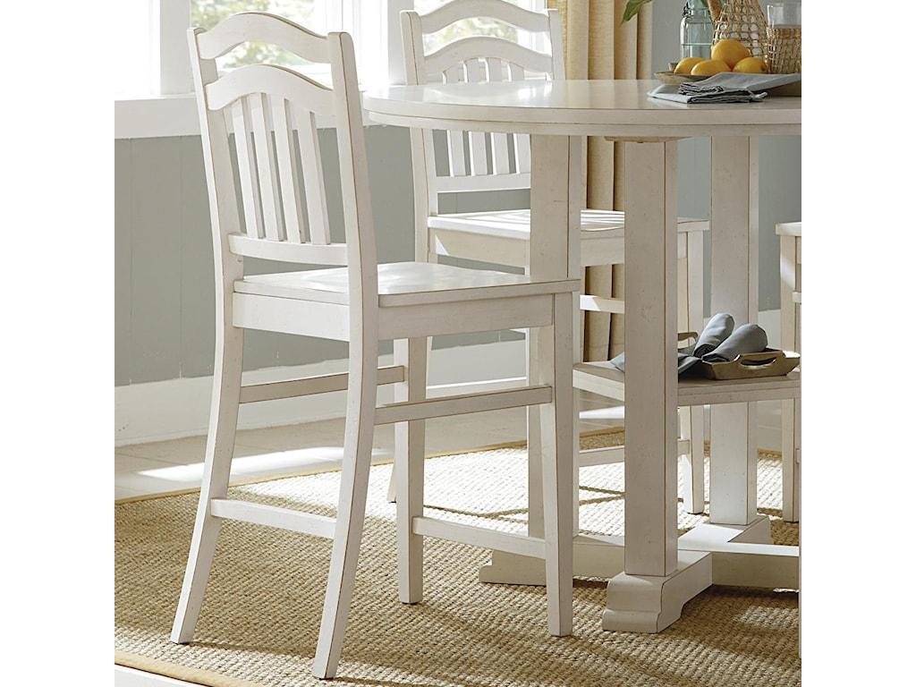 Liberty Furniture SummerhillSlat Back Counter Stool