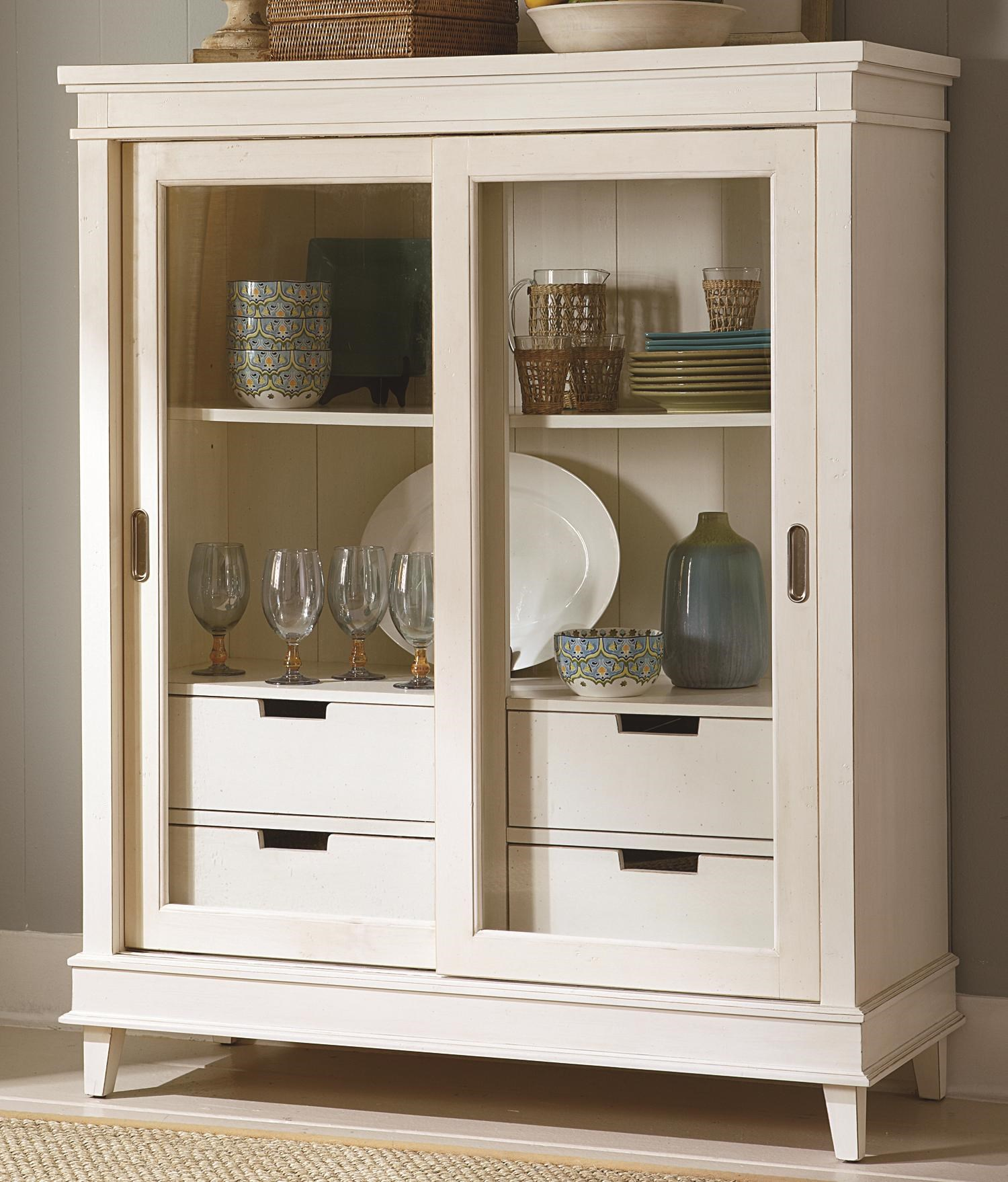 Liberty Furniture Summerhill Sliding Door China Display Cabinet & Liberty Furniture Summerhill Sliding Door China Display Cabinet ...