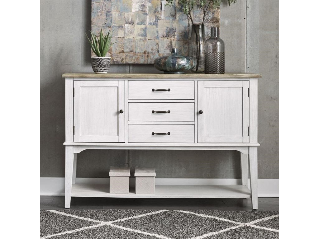Liberty Furniture Summerville Cottage Style Two Toned Server