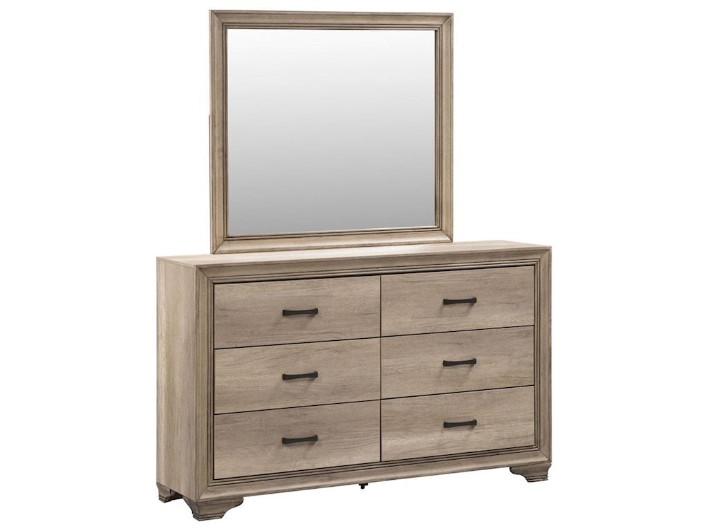 Liberty Furniture Sun ValleyDresser & Mirror