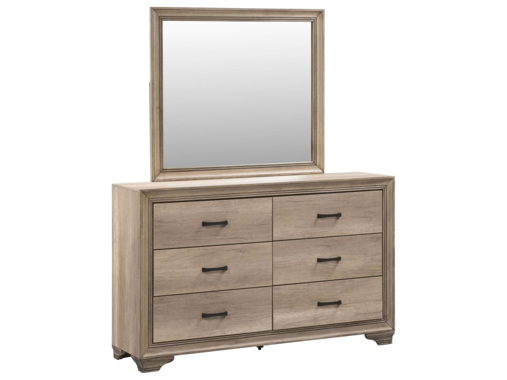 Liberty Furniture Sun Valley 439Dresser & Mirror