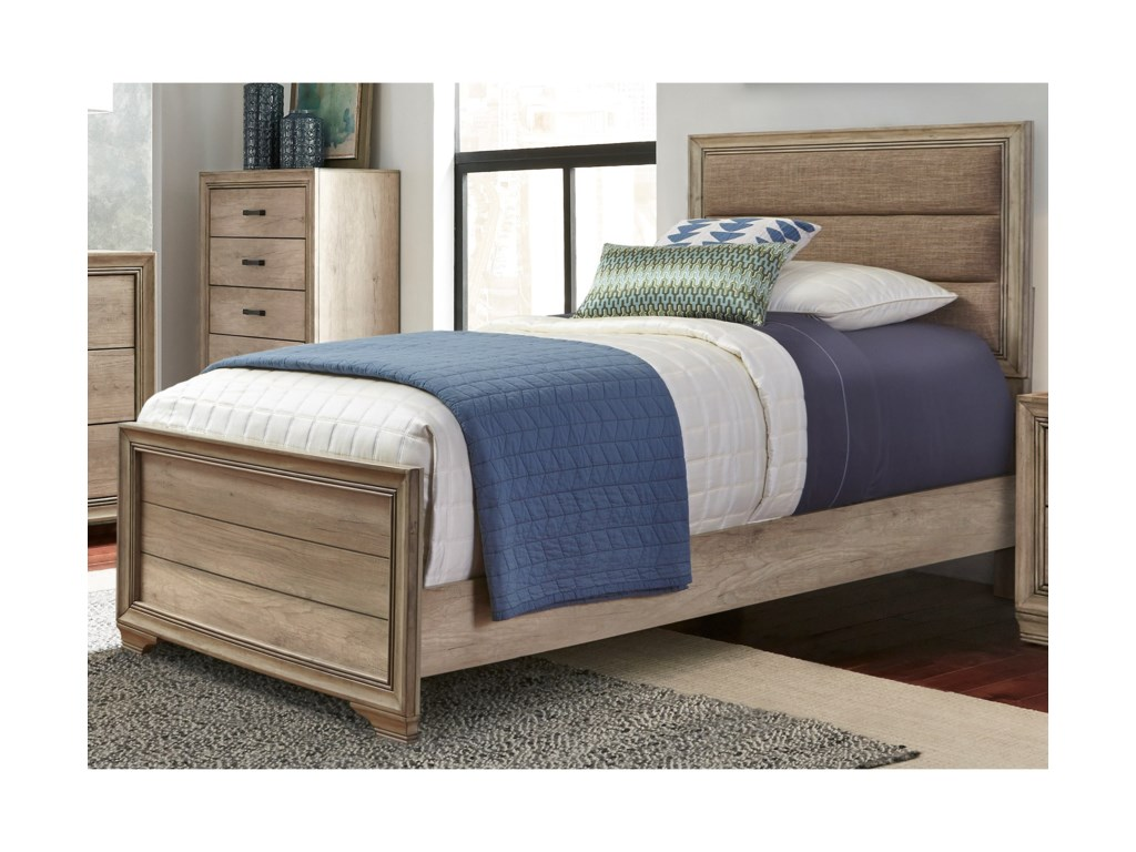 Liberty Furniture Sun ValleyTwin Upholstered Panel Bed