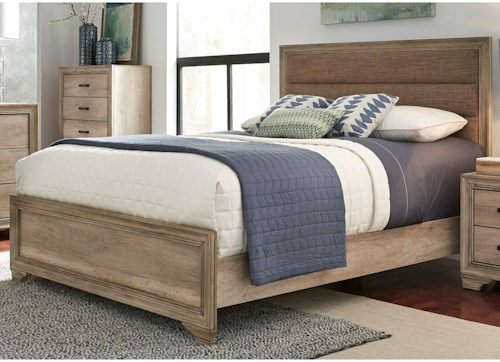 Liberty Furniture Sun Valley 439 Queen Upholstered Panel Bed