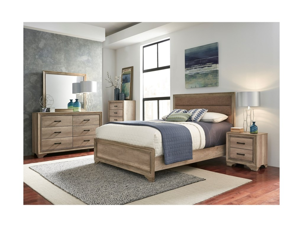 Liberty Furniture Sun ValleyQueen Upholstered Panel Bed