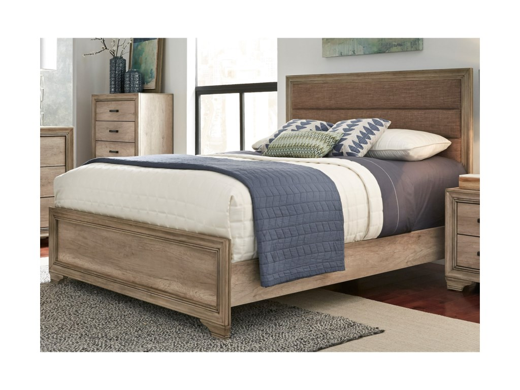Liberty Furniture Sun ValleyKing Upholstered Panel Bed