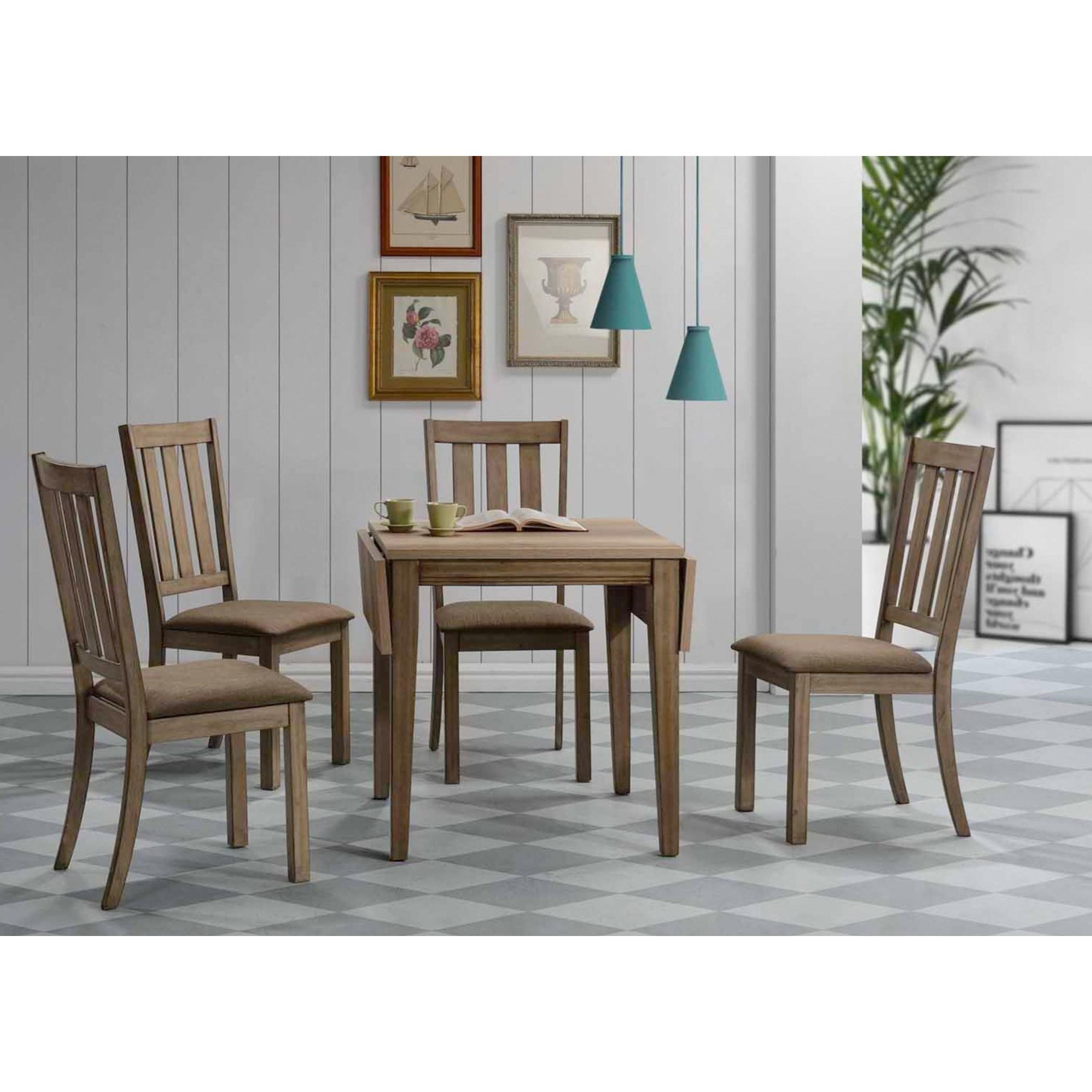 Liberty Furniture Sun Valley 5 Piece Drop Leaf Set W/ Slat Back Chairs