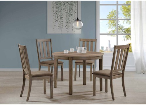 Liberty Furniture Sun Valley 439 5 Piece Round Table Set w/ Slat Back Chairs