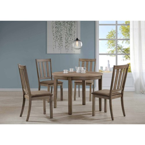 Liberty Furniture Sun Valley 5 Piece Round Table Set w/ Slat Back Chairs