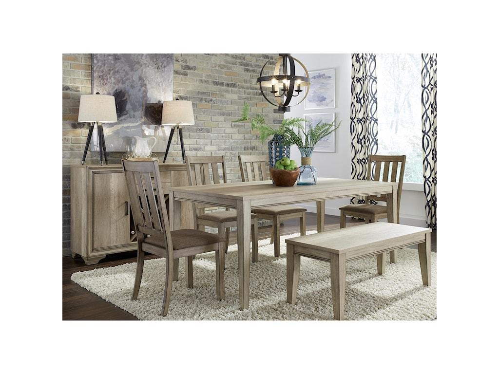 Liberty Furniture Sun Valley6 Piece Rectangular Table Set