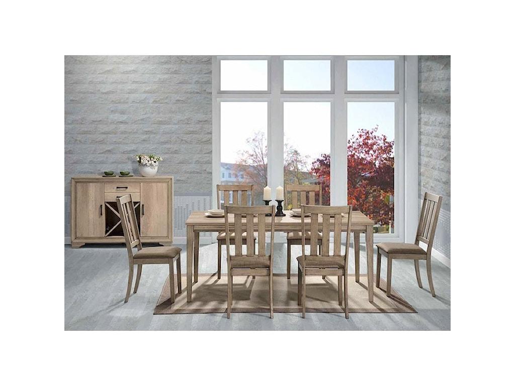 Liberty Furniture Sun Valley7 Piece Rectangular Table Set