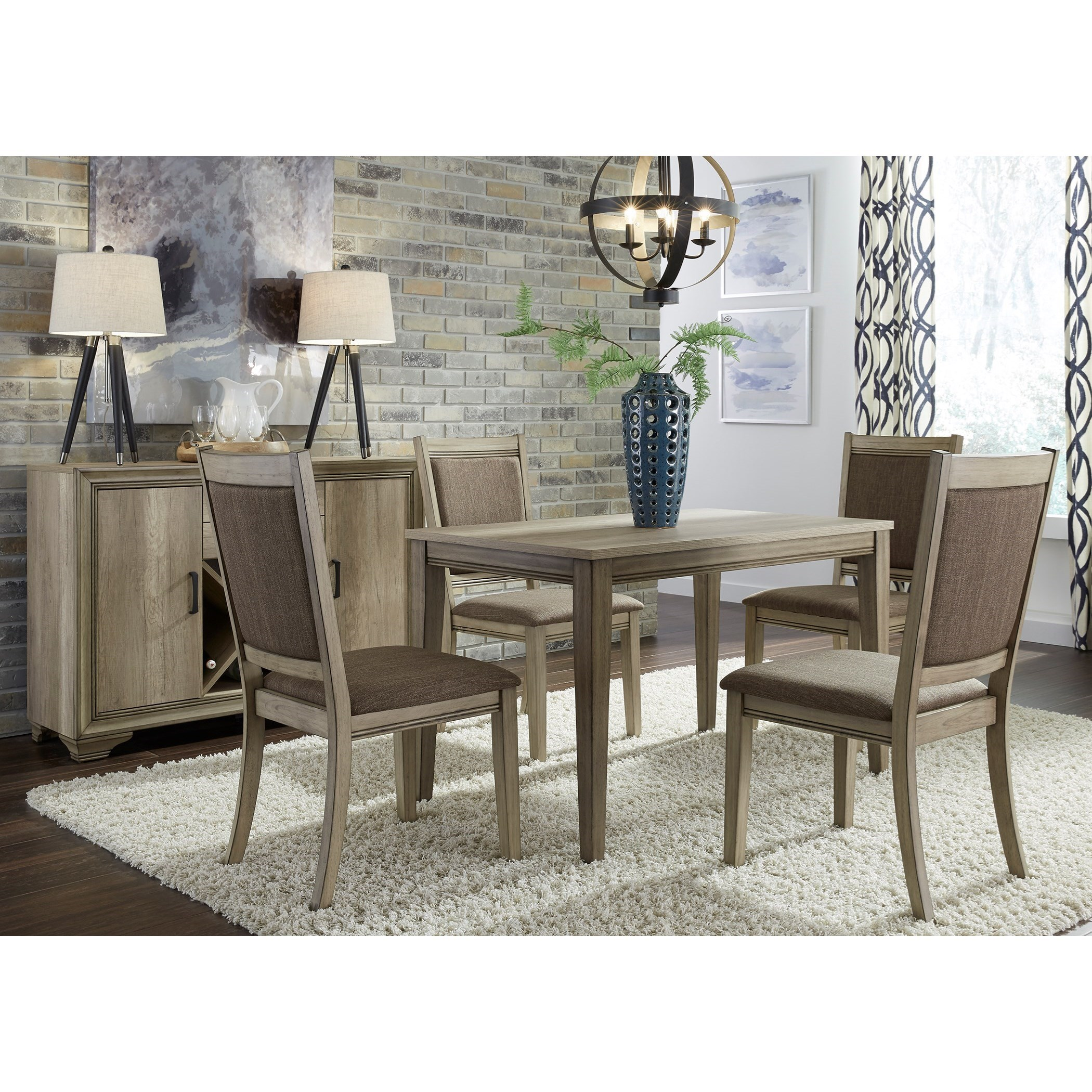 Liberty Furniture Sun Valley 5 Piece Cafe Table Set with Upholstered Chairs  sc 1 st  Royal Furniture & Liberty Furniture Sun Valley 5 Piece Cafe Table Set with Upholstered ...