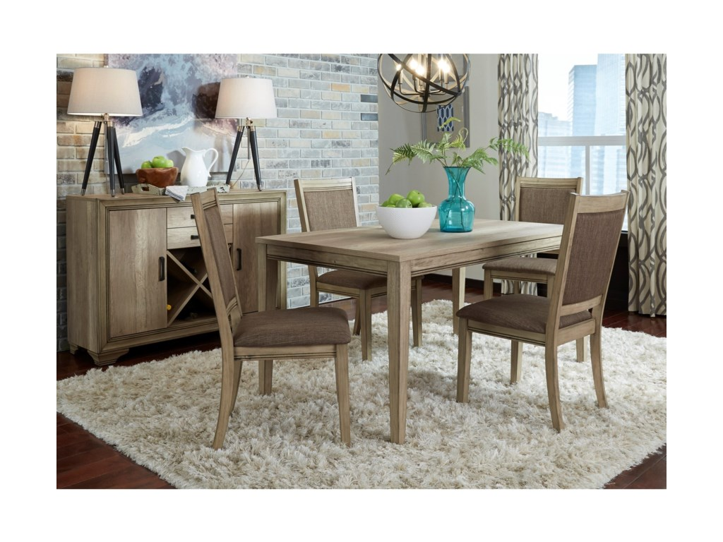 Liberty Furniture Sun ValleyOpt 5 Piece Rectangular Table Set