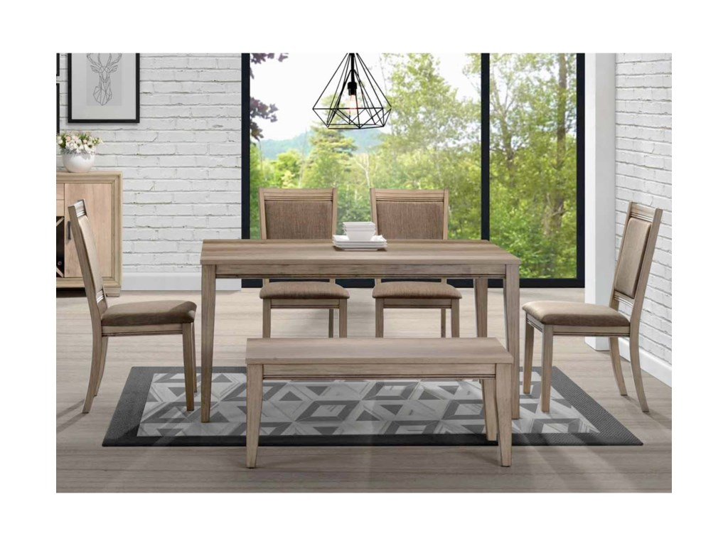 Liberty Furniture Sun ValleyOpt 6 Piece Rectangular Table Set
