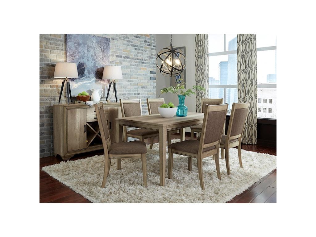 Liberty Furniture Sun ValleyOpt 7 Piece Rectangular Table Set
