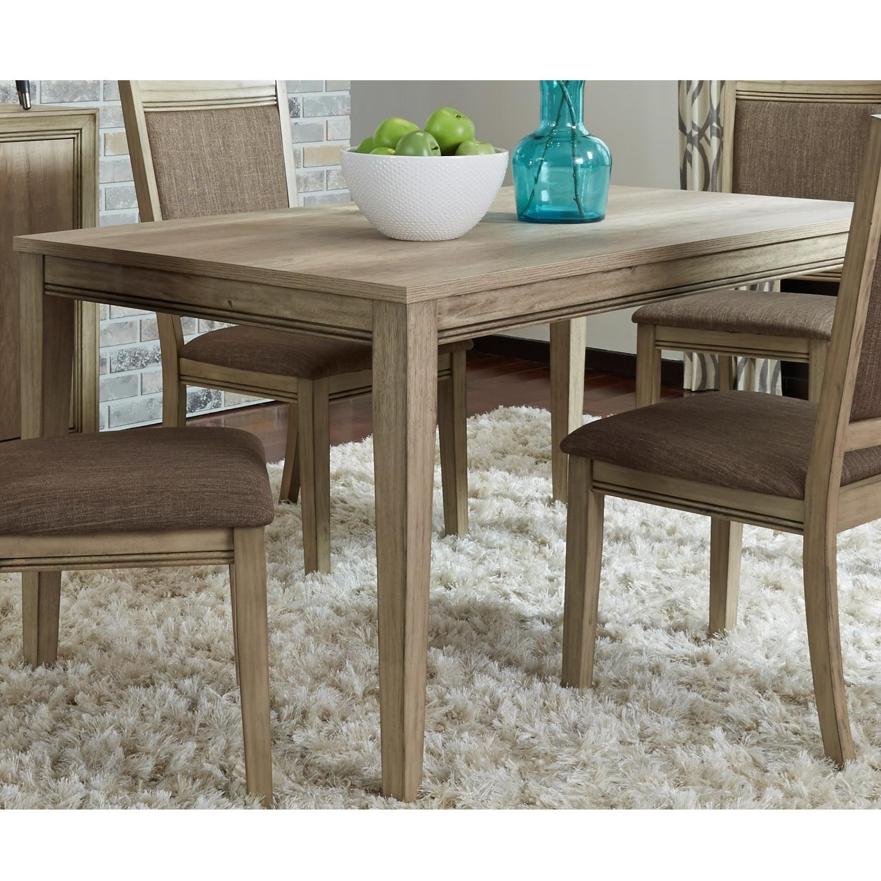 Sun Valley Transitional 60 Inch Rectangular Leg Table By Liberty Furniture