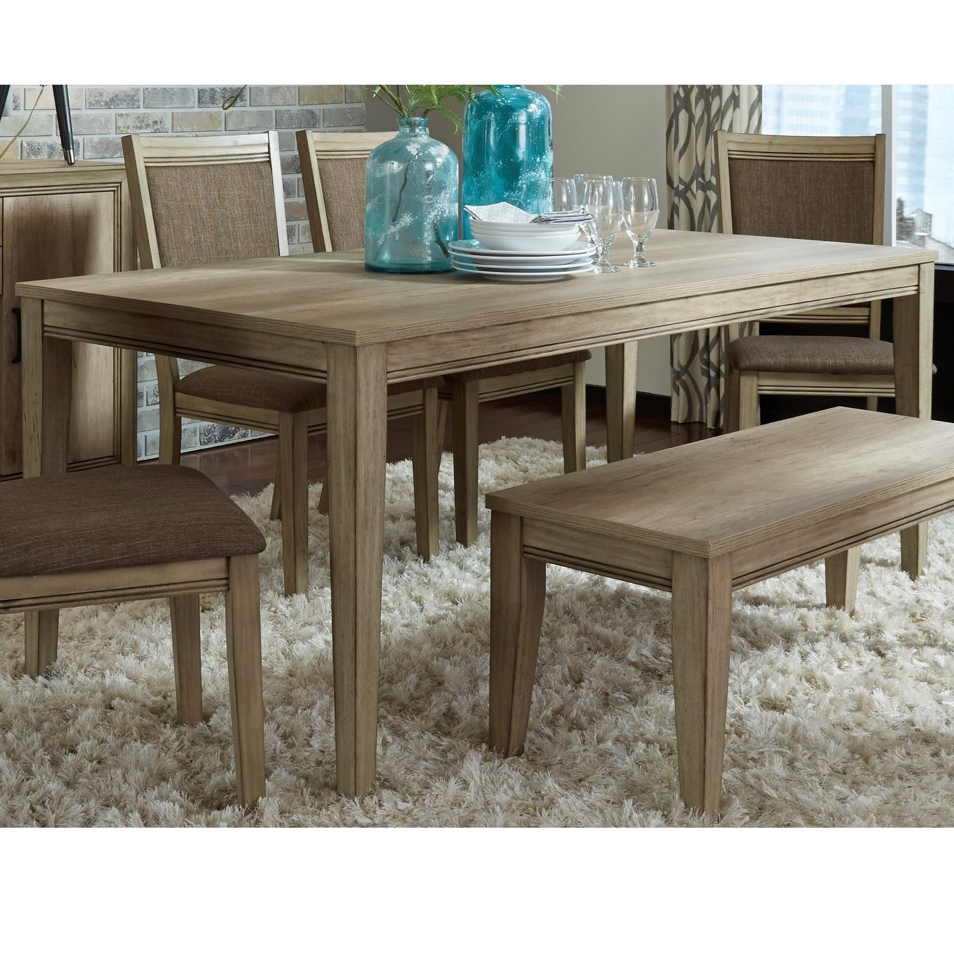 Liberty Furniture Sun Valley Transitional 72 Inch Rectangular Leg Table    Darvin Furniture   Dining Tables