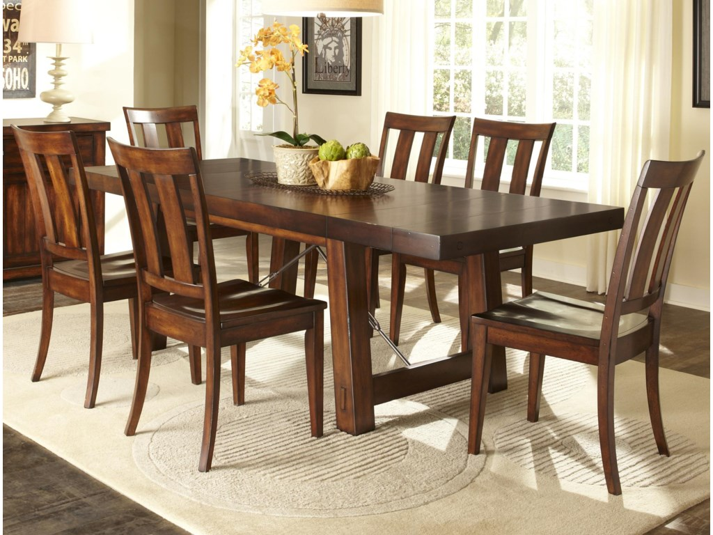 Liberty furniture tahoe7 piece dining table set