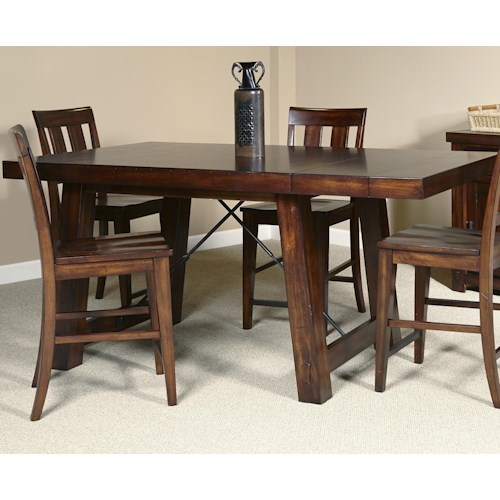 Liberty Furniture Tahoe Gathering Table With Trestle Base