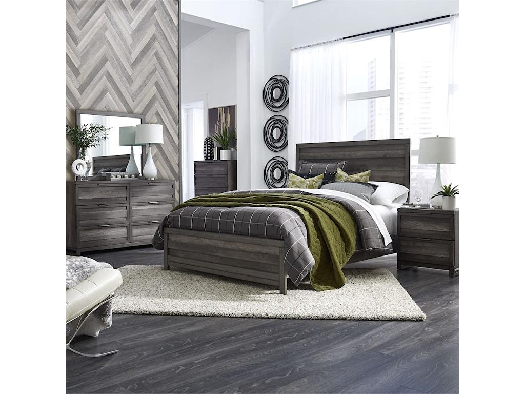 Liberty Furniture Tanners CreekCalifornia King Panel Bed