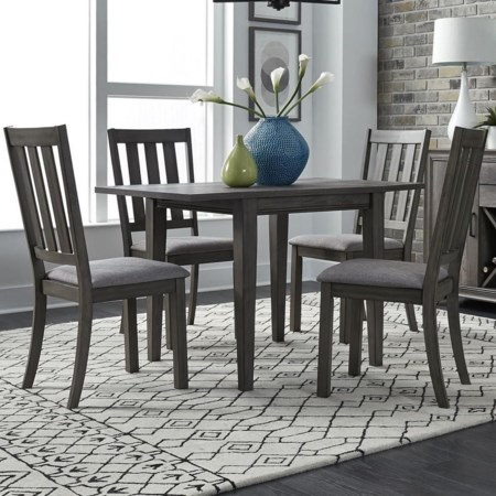 5 Piece Drop Leaf Table and Chair Set