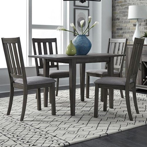 Liberty Furniture Tanners Creek 5 Piece Drop Leaf Set Table and Chair Set