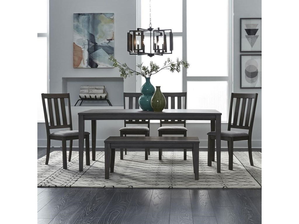 Tanners Creek 6 Piece Rectangular Table and Chair Set with Bench by Liberty  Furniture at Royal Furniture