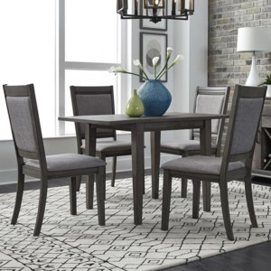 Silver Dining Table And Chairs, Liberty Furniture Tanners Creek 686 Cd O5dls 5 Piece Drop Leaf Table And Chair Set Upper Room Home Furnishings Dining 5 Piece Sets