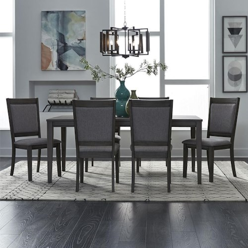 Liberty Furniture Tanners Creek 7 Piece Rectangular Table and Chair Set