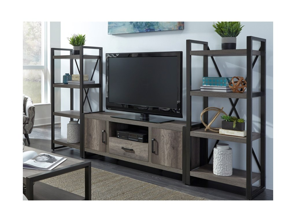Liberty Furniture Tanners CreekEntertainment Center with Piers