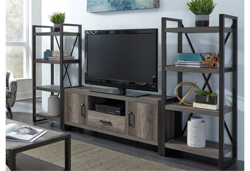 Tanners Creek Contemporary Entertainment Center With Piers By Liberty Furniture At Darvin Furniture