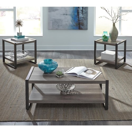 Liberty Furniture Tanners Creek Contemporary 3 Piece Occasional Table Group