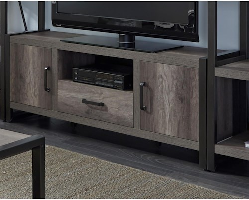Liberty Furniture Tanners Creek Contemporary Entertainment TV Stand with Open Media Compartment