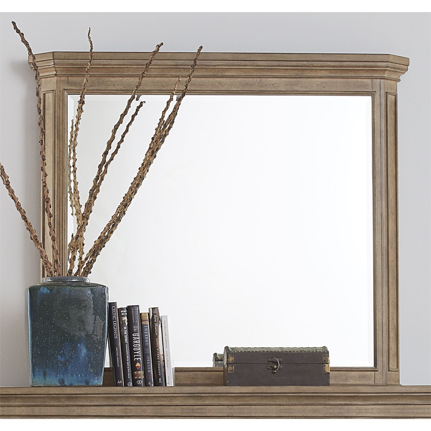 Relaxed Vintage Solid Wood Landscape Mirror