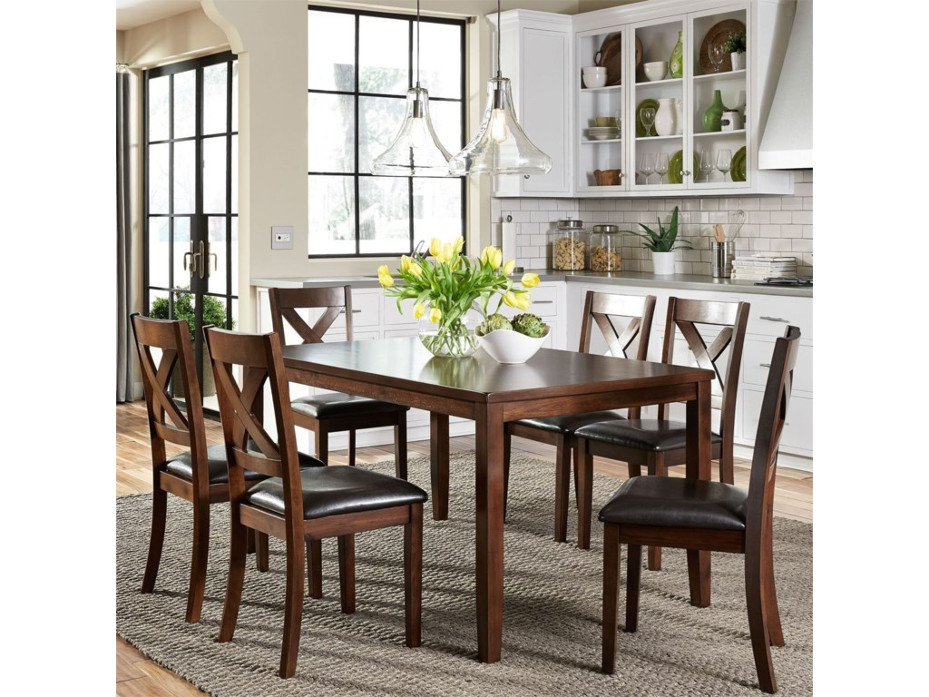 Liberty Furniture Thornton7 Piece Rectangular Table Set