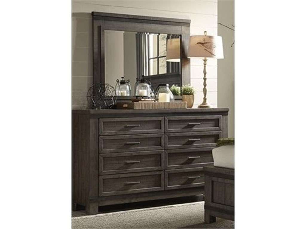 Liberty Furniture Thornwood HillsDresser and Mirror